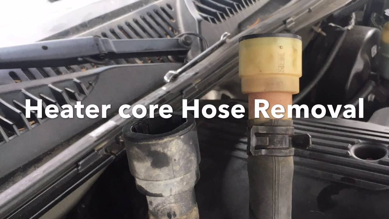 98  gm truck heater core hose removal gm quick connect