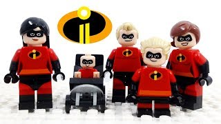 Lego Disney Pixar Incredibles 2 - Stop Motion Cartoon For Kids | Compilation LuckyCleverToys