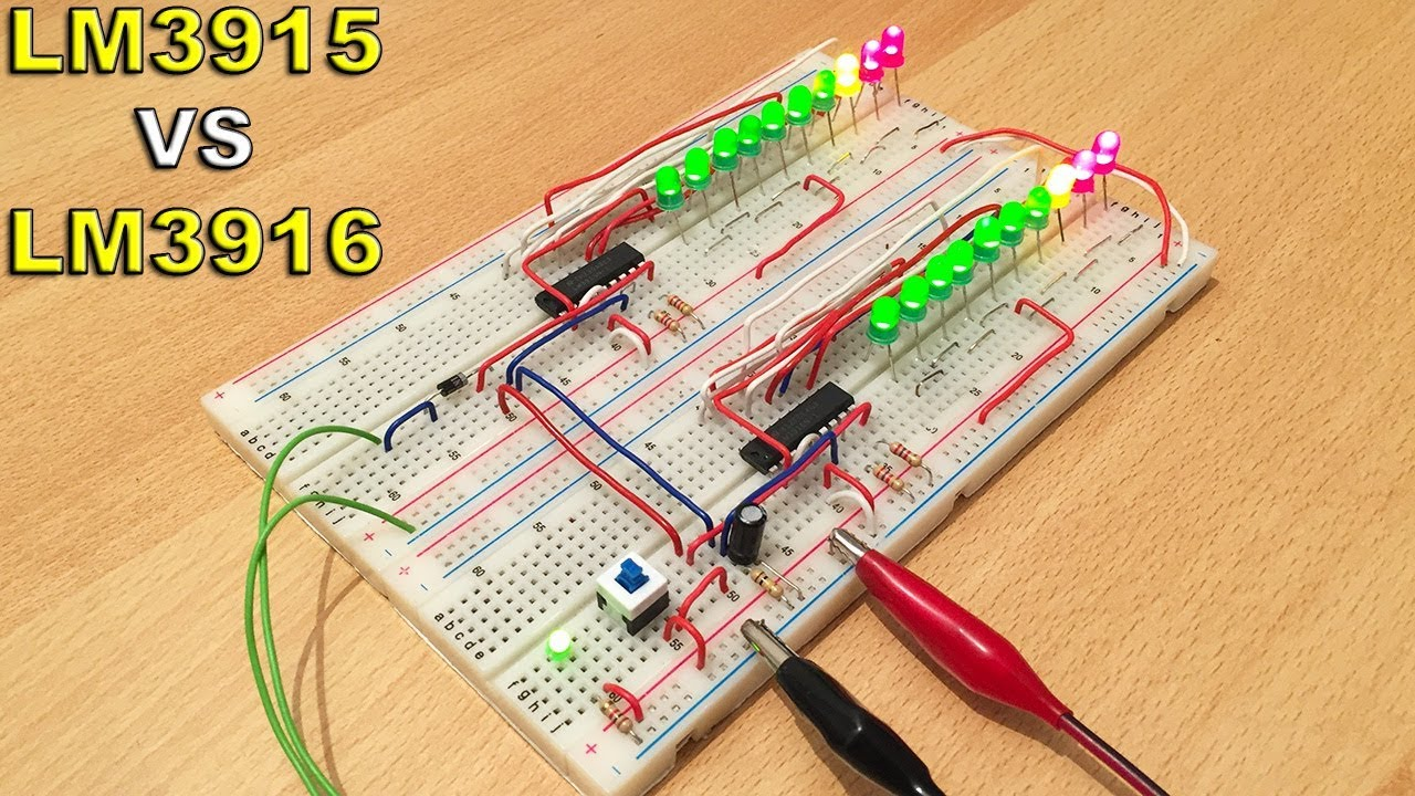 Electronic Circuits Audio Power Meter Circuit With Lm3915