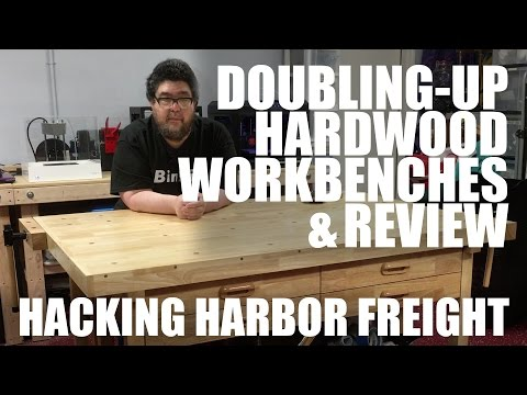Hacking Harbor Freight: Hardwood workbenches (review)