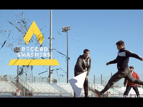 Longest Paper Football Field Goal | Record Smashers Episode 1