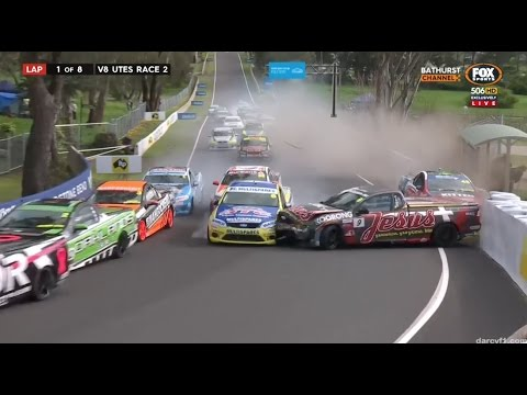 Start Crash Race Utes Bathurst Youtube