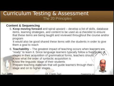 Curriculum Development Principles