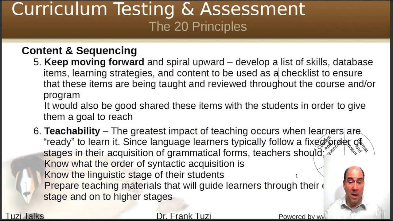 Curriculum Development Principles