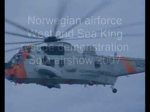 Norwegian airforce Westland Sea King rescue demonstration