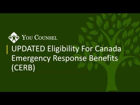 UPDATED Eligibility For Canada Emergency Response Benefit (CERB)