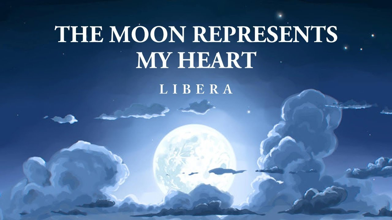 the moon represents my heart - 1280×720