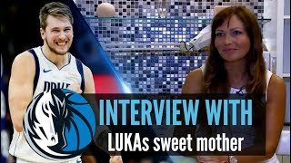 Luka Doncic - His hot mom Mirjam taking an interview on Dallas' love affair with Luka