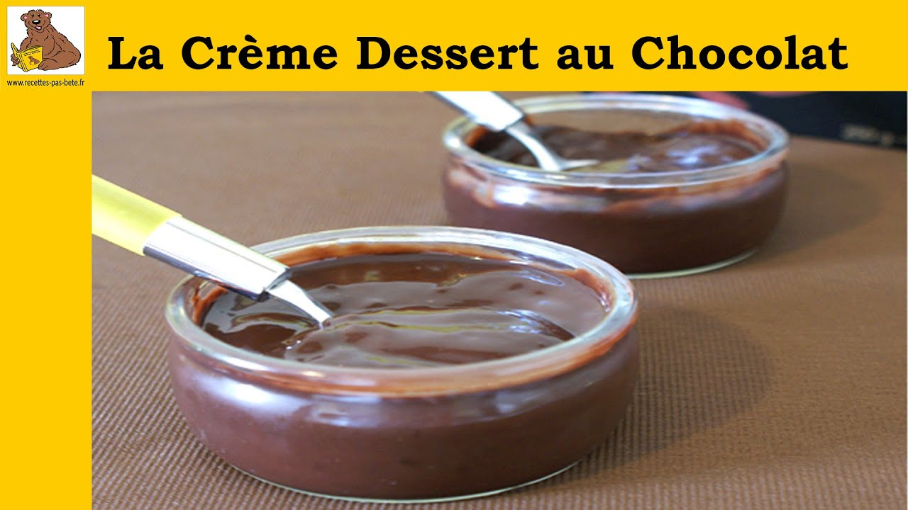 la cr me dessert au chocolat recette facile youtube. Black Bedroom Furniture Sets. Home Design Ideas
