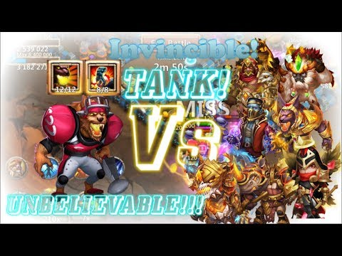 Invincible: Stone Skin Anubis Vs Damage Heroes - Castle Clash