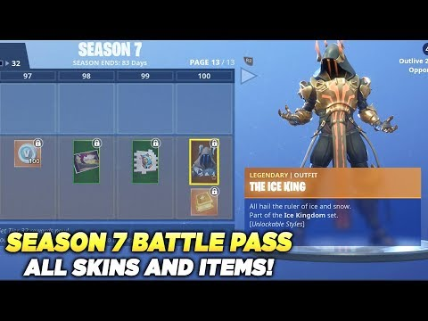 All Skins And Items Season 6 Battle Pass Tier 100 Fortnite Battle