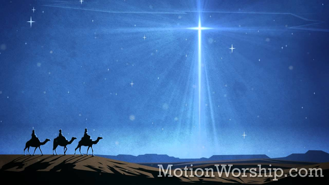Wise Men Star And Motion Powerpoint Background