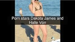 Porn stars Dakota James and Halle Von