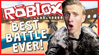 BEST BATTLE EVER!? | ROBLOX LEGENDARY | ROBLOX MEDIEVAL WAR!?
