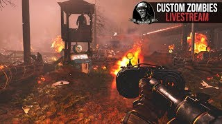 """FLAWLESS FIRST ATTEMPT! (""""WW2 DEFENCE"""" Custom Zombies LIVE   Call of Duty Black Ops 3)"""