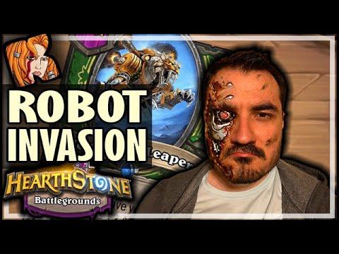 ROBOTS INVADE BATTLEGROUNDS! - Hearthstone Battlegrounds
