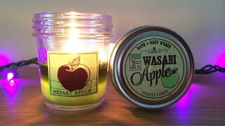 Candle Fail!  Bath & Body Works Wasabi Apple Mini-Mason Jar Review Thumbnail