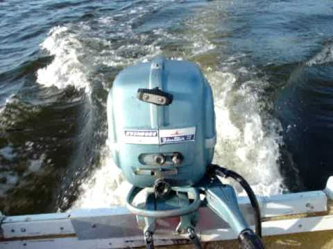 "1954 Evinrude Fleetwin 7.5hp Vintage outboard motor "" 56 years old"""