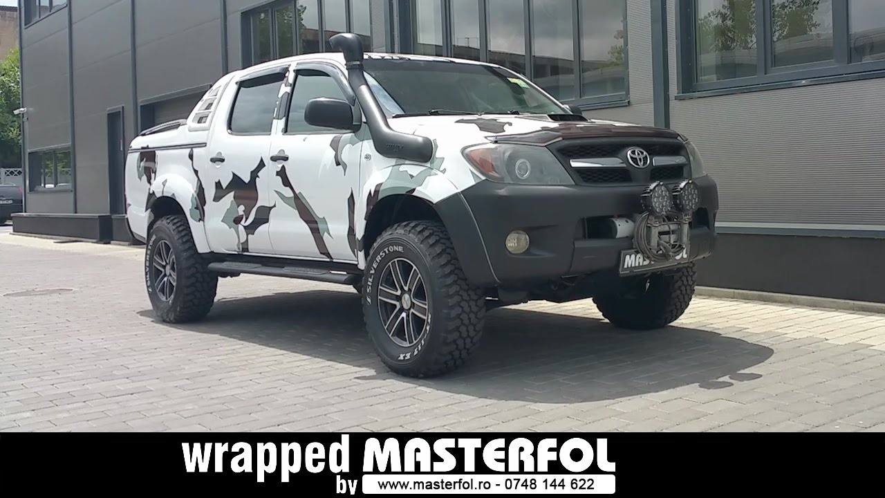 Toyota Hilux Wrapped By Masterfol Camouflage Youtube