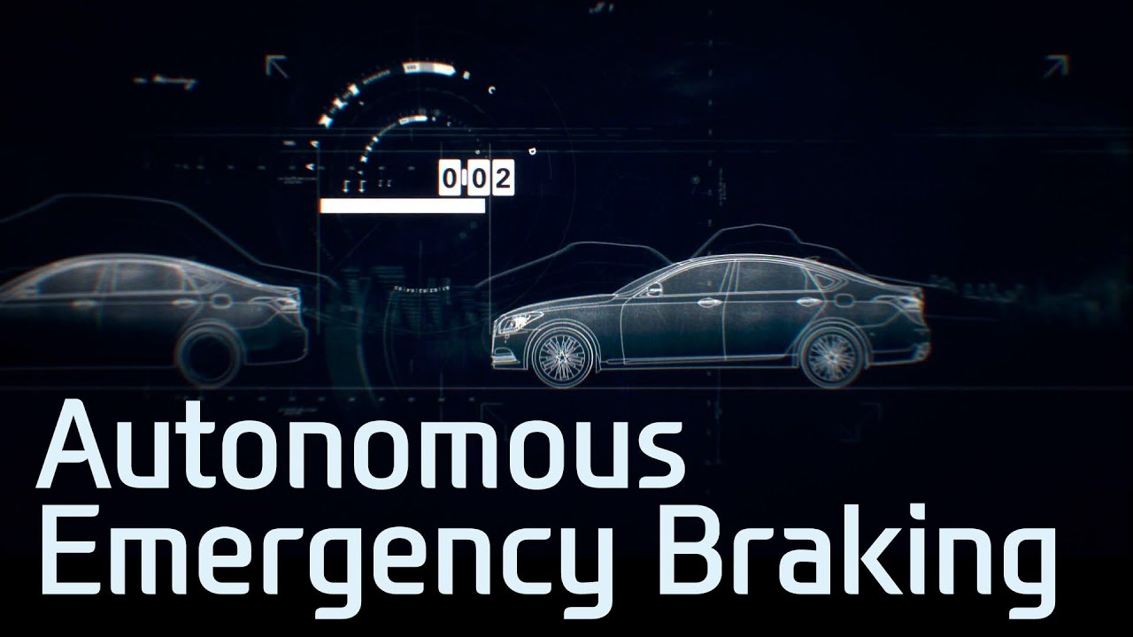 Hyundai Genesis Autonomous Emergency Braking Youtube