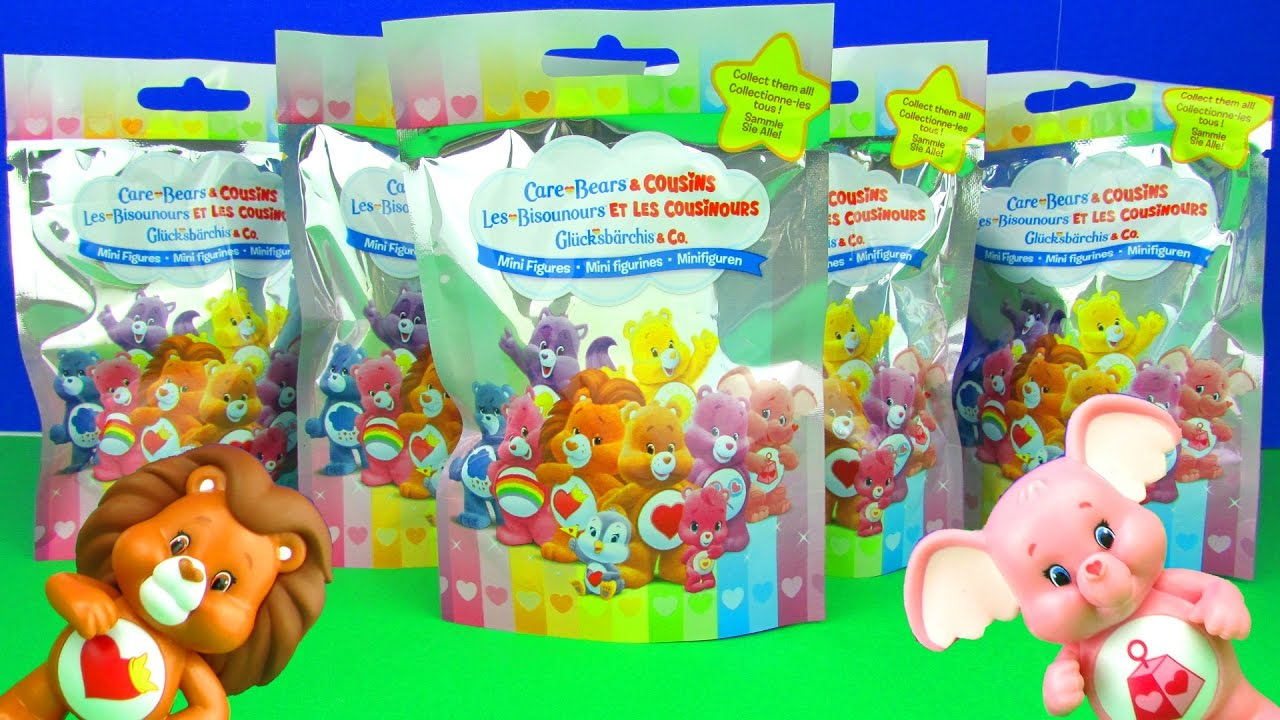 Just Play Toys : Care bears cousins blind bags surprises cute toys mini