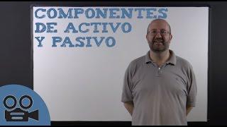 Componentes de activo y pasivo en contabilidad