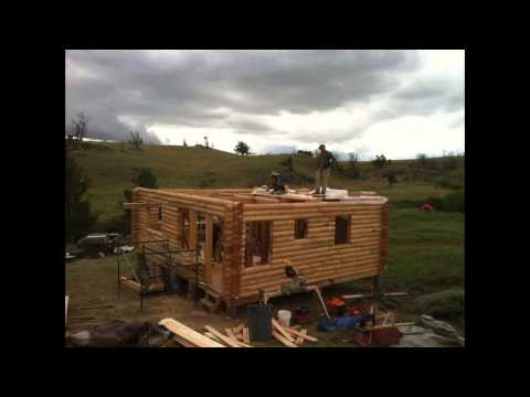 Wyoming Cabin Build Progression