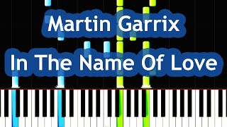 Martin Garrix & Bebe Rexha - In The Name Of Love Piano Tutorial