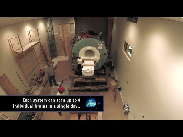 A screenshot from MRI Scanner Installation Timelapse (2 Days in 2 Minutes!)