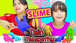SLIME por Telepatia con GUANTES | Twin Telepathy SLIME Glove Challenge