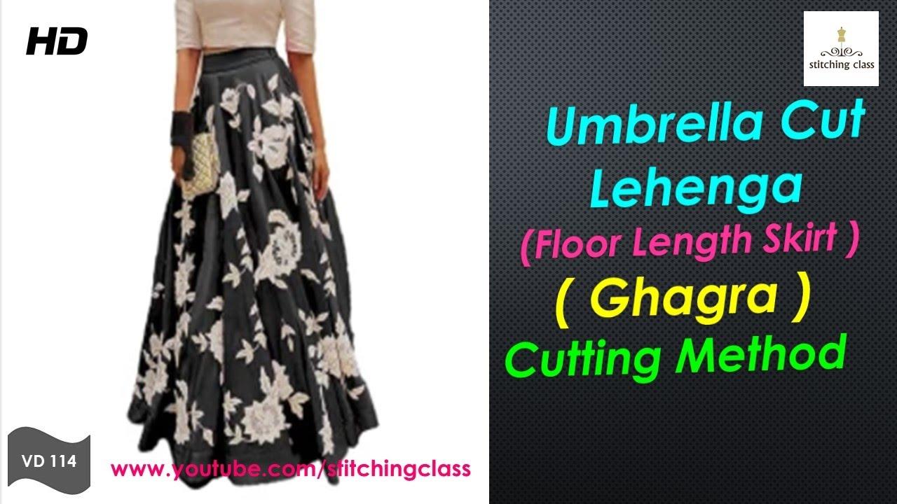 39218e4ba6 UMBRELLA LEHENGA | SKIRT | CUTTING METHOD. Stitching Class