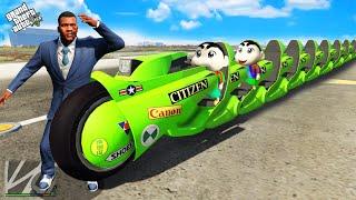 GTA 5 : Franklin And Shinchan Found World\x27s Longest Bike in GTA 5 ! (GTA 5 mods)