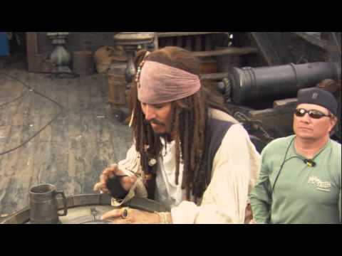 Johnny Depp in Behind the scenes of POTC (Music video)