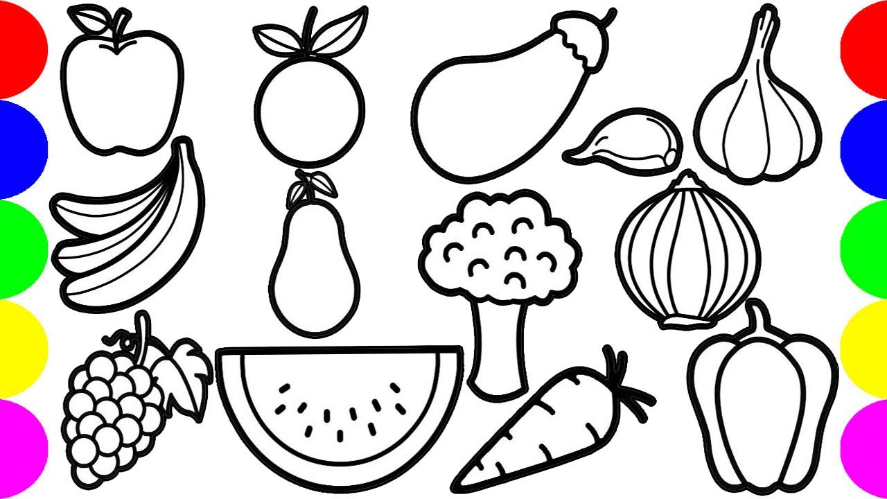 Jolly Toy Vegetable & Fruits Drawing Pictures Easy Step By ...