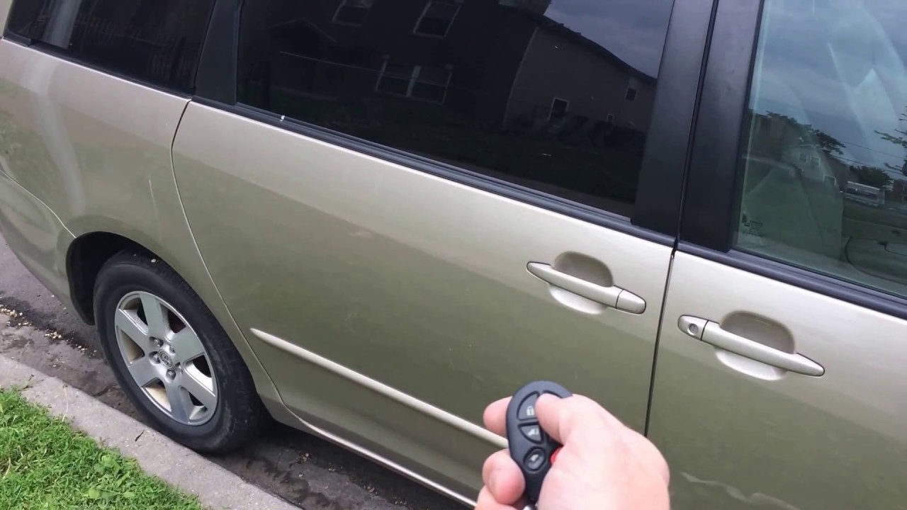 Toyota Sienna Sliding Door Will Not Unlatch With Remote Youtube