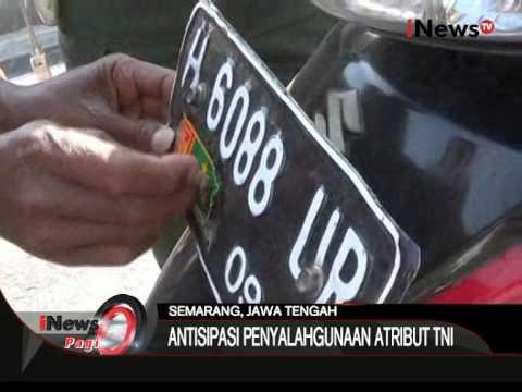 Razia Atribut TNI, Antisipasi Penyalahgunaan Atribut TNI Di Semarang