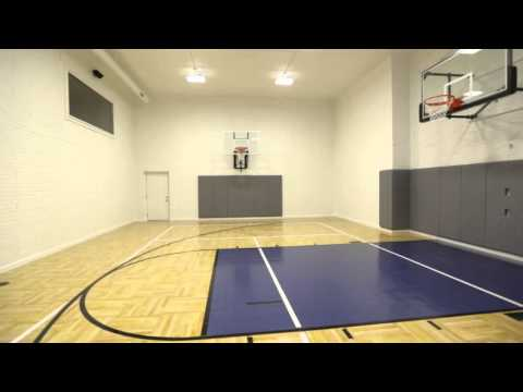 Falcone Homes -- Home Sports Court (Multi-Use Gym For Basketball, Tennis, Volleyball, Etc)