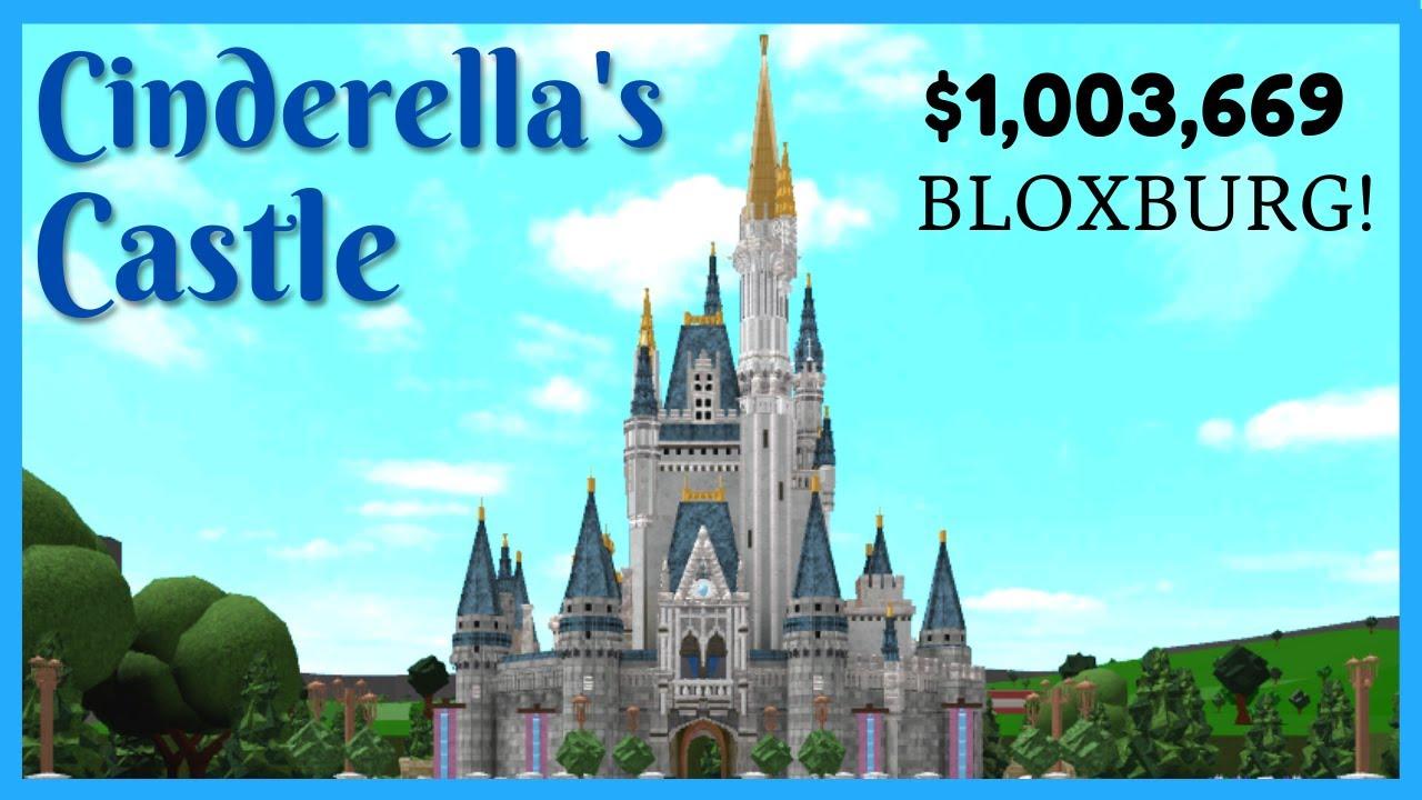 Cinderella S Castle In Bloxburg Disney Castle Speedbuild By Fruitmcnare Daniel Perkins Youtube