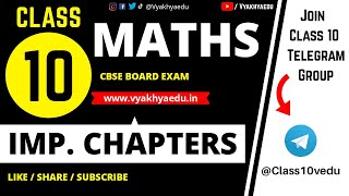 CBSE Class 10 Maths: Important Topics and Tips for Exams 2018 |Vyakhyaedu