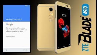 REMOVE GOOGLE ACCOUNT ZTE BLADE A910 BYPASS FRP ANDROID 6 0