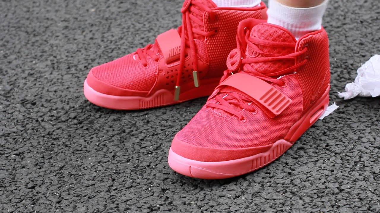 44da905520fcb yeezyshopping Red Air Yeezy 2 On Feet - YouTube
