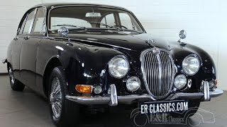 Jaguar S-Type Saloon 3.8S 1965 Midnight Blue overdrive chrome wire wheels -VIDEO- www.ERclassics.com