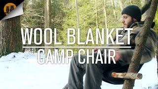 Comfort In The Cold: How To Make A Wool Blanket Camp Chair