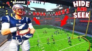 INSANE *NEW* FOOTBALL STADIUM HIDE AND SEEK ON FORTNITE!!!! (Fortnite Creative)