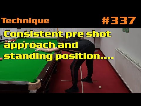 Consistent Pre Shot Approach And Standing Position….