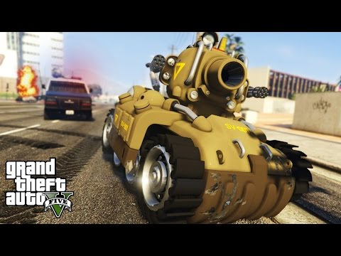 INSANE METAL SLUG TANK! Ultimate Destruction Mini Tank! SV-001 (GTA 5 PC Mods)