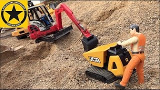 BRUDER Toys Tunnel Project Episode 5 Caterpillar Excavator MACK DUMP TRUCK