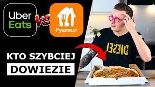 KTO SZYBCIEJ PRZYWIEZIE PIZZE - PYSZNE.PL vs. UBER EATS!