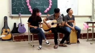 Tháng 4 là lời nói dối của em - Clb guitar HMTU (Vân, Hưng, Công)