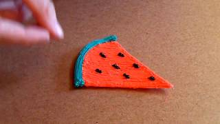 Drawing a watermelon with a Velleman 3d pen